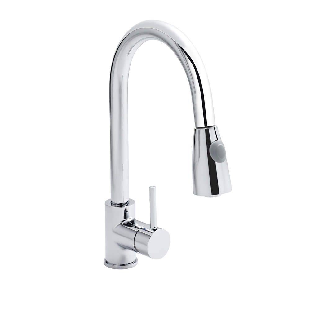 Chrome Pull Out Kitchen Mixer Tap