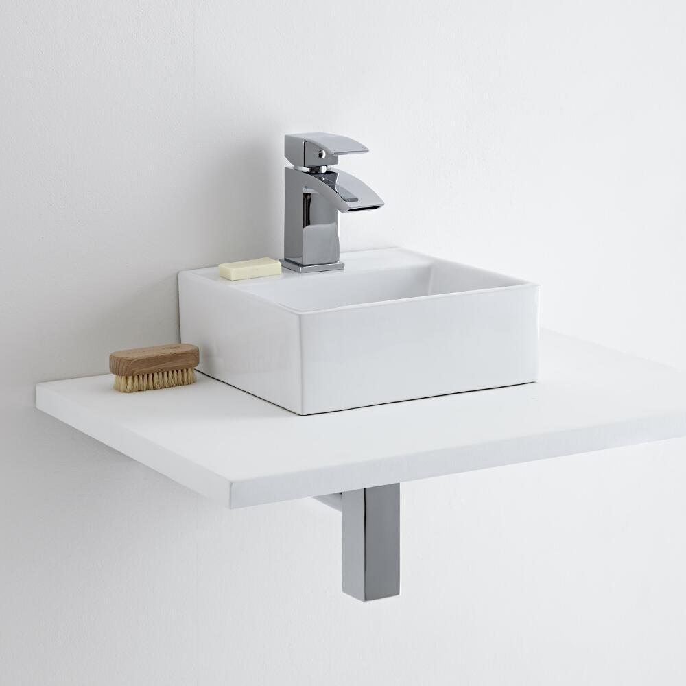 Milano Dalton Countertop Basin with Milano Wick Mono Basin Mixer Tap