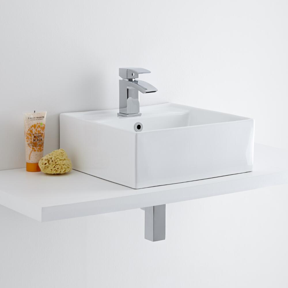 Milano Dalton 410mm Countertop Basin with Basin Mixer Tap