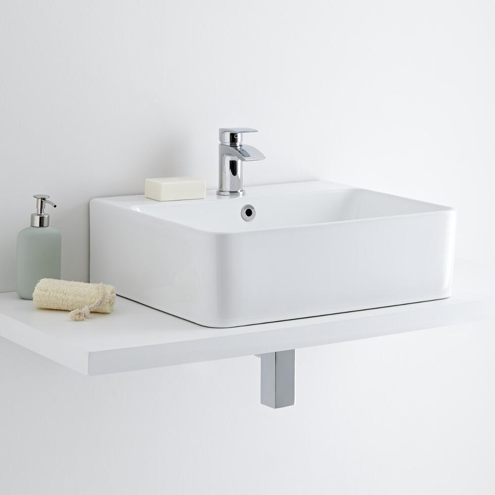 Milano Farington 520mm Countertop Basin with Mono Basin Mixer Tap
