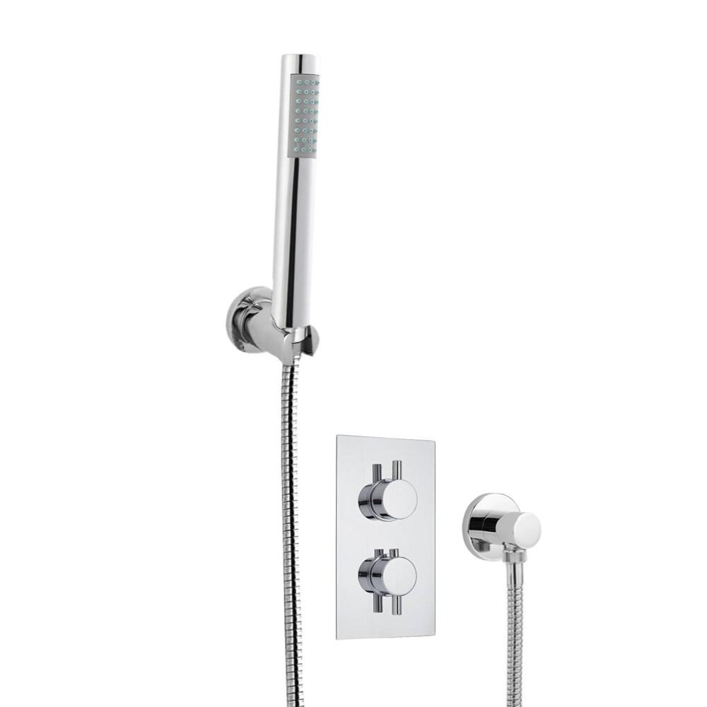 Milano Round Twin Thermostatic Shower Valve With Hand Shower