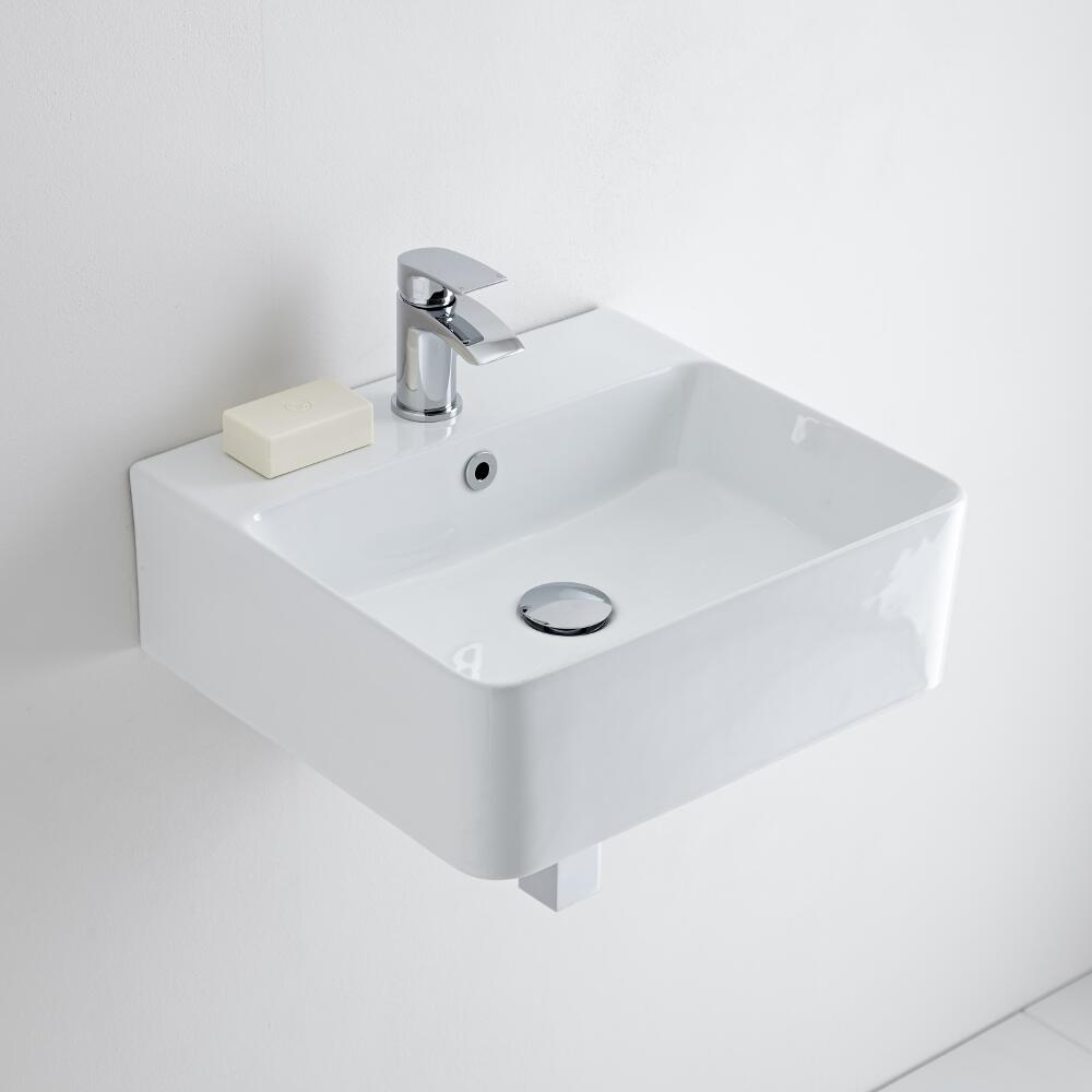 Milano Farington - Ceramic Wall Hung Basin 460 x 420mm