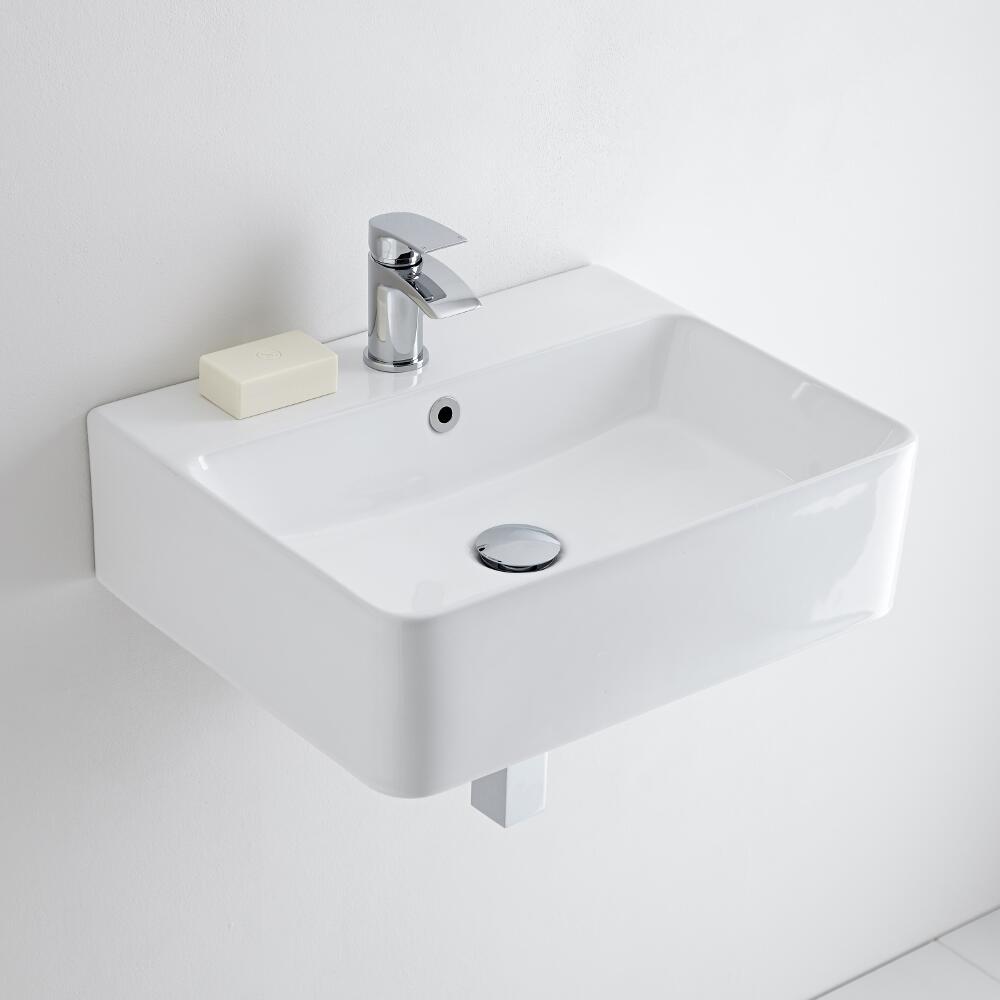 Milano Farington - Ceramic Wall Hung Basin 520 x 420mm