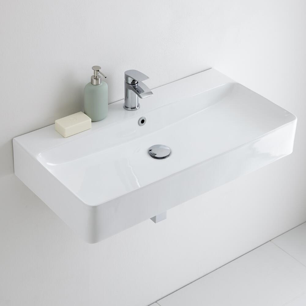 Milano Farington - Ceramic Wall Hung Basin 800 x 415mm
