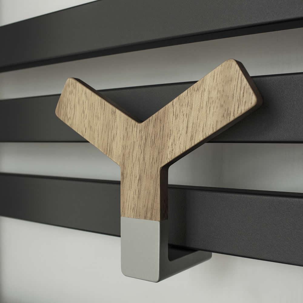 Lazzarini Way - Y Wood Holder for Designer Radiators and Towel Warmers