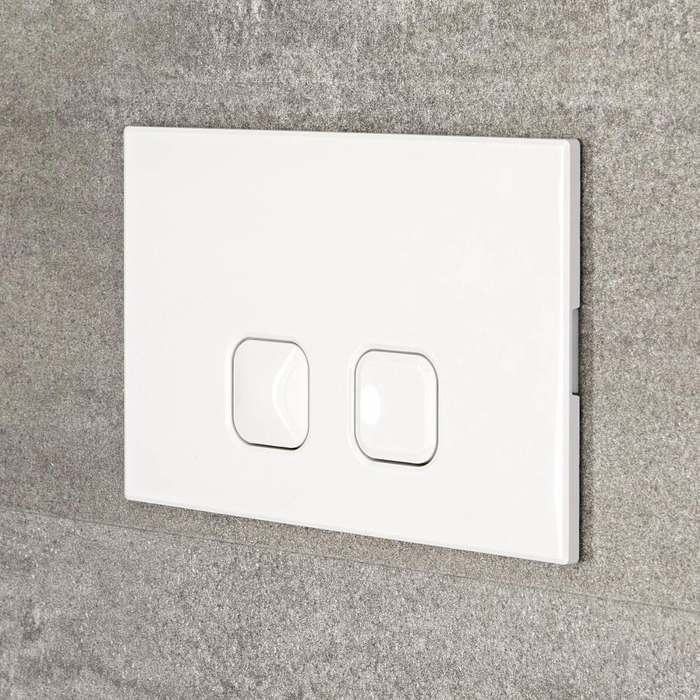 Milano - White Square Flush Plate - 150mm x 230mm