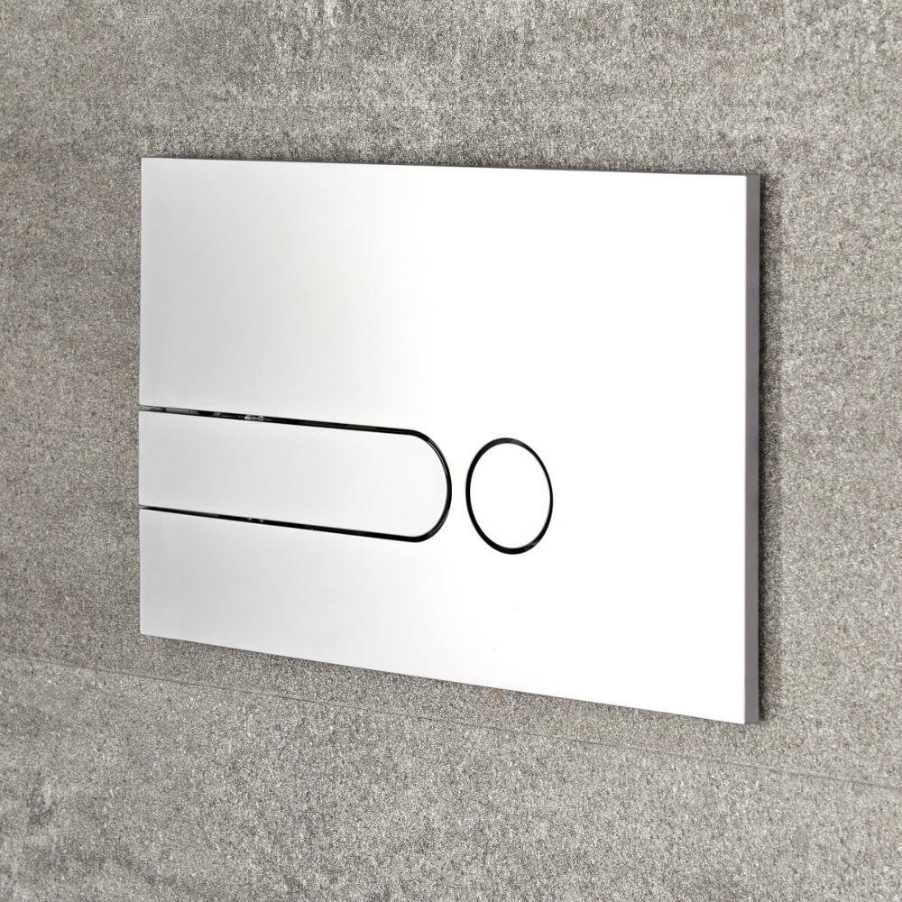 Milano - Satin Chrome Square Dot Flush Plate - 150mm x 240mm
