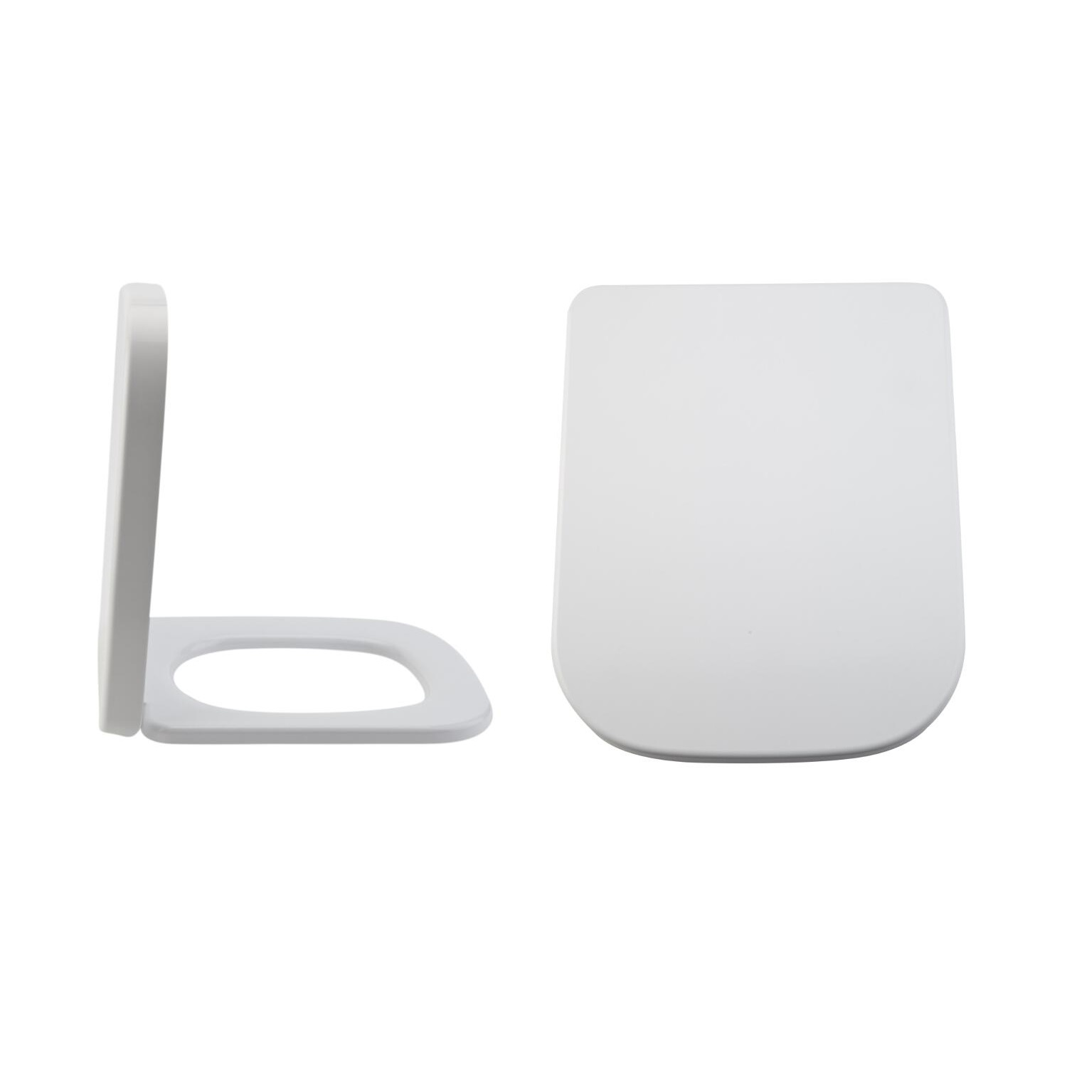 Milano Longton - White Soft -Close Quick Release Top Fix Toilet Seat