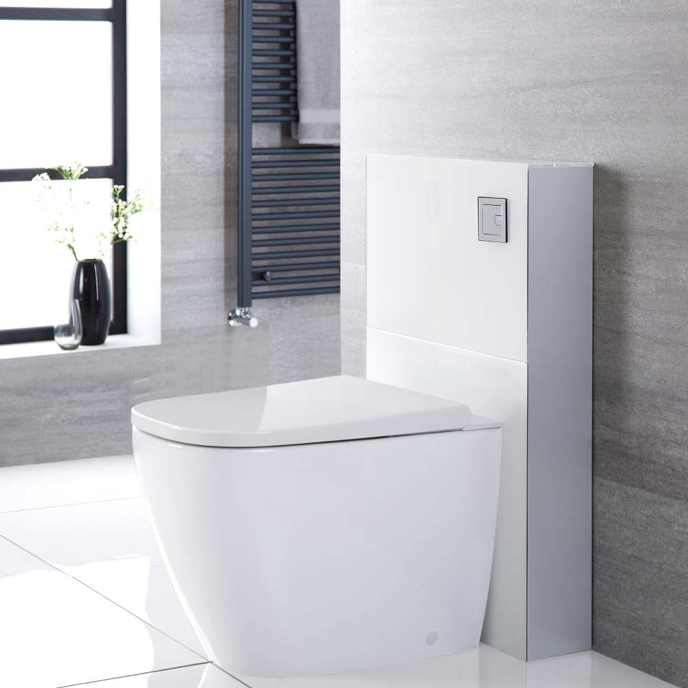 Milano Arca - White 500mm Back to Wall Japanese Bidet Toilet Complete WC Unit