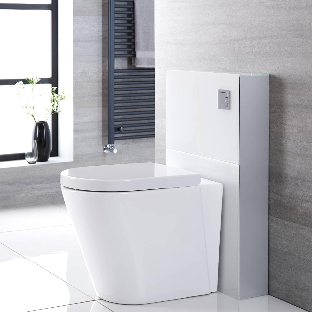 Milano Arca - White 500mm Back to Wall WC Unit (Excluding Pan)