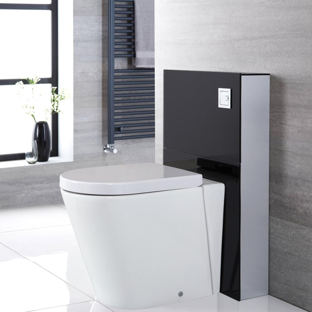 Milano Arca - Black 500mm Back to Wall Complete WC Unit