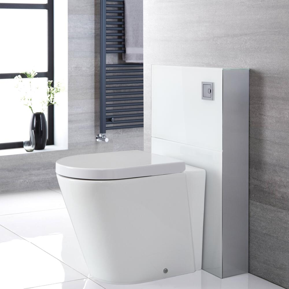 Milano Arca - White 500mm Back to Wall Complete WC Unit