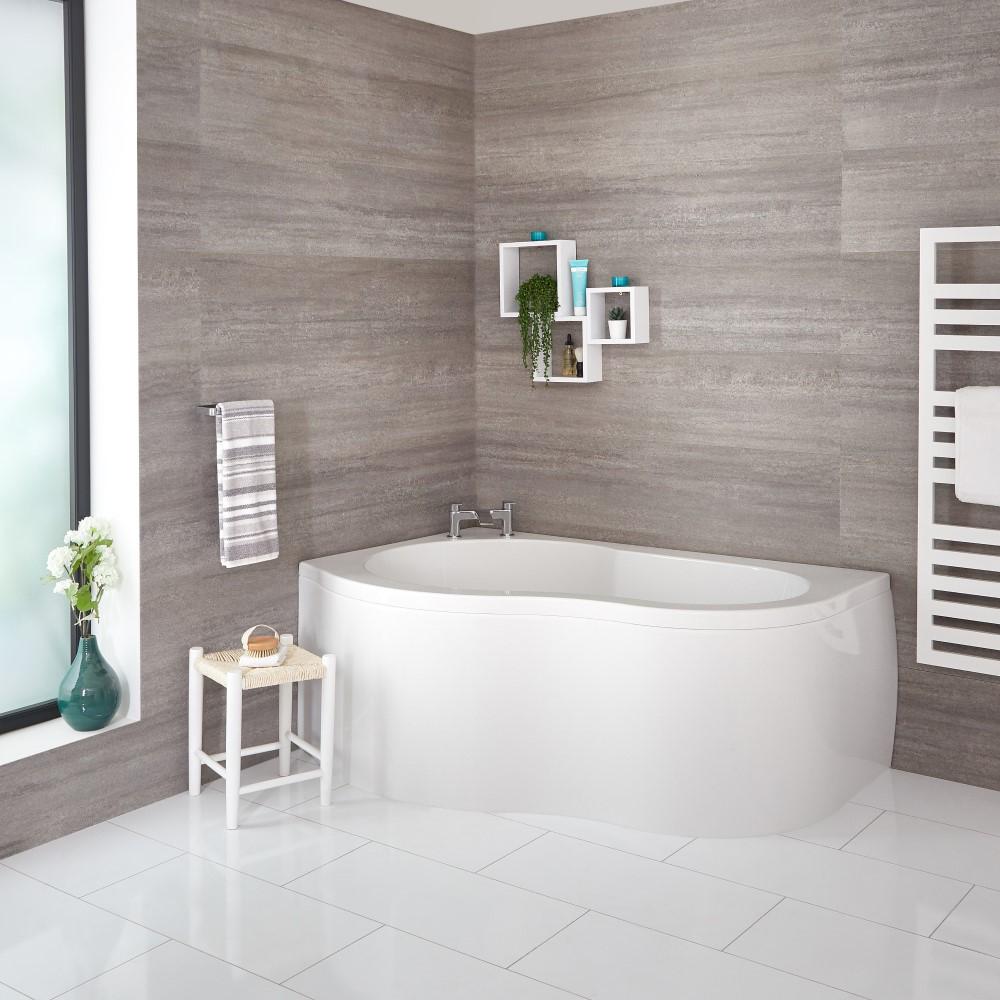 Milano - 1500mm x 1000mm Corner Bath and Panel - Left Hand