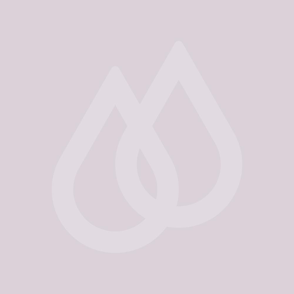 Milano Bexley - Light Oak Modern 600mm Open Shelf Vanity Unit with Square Countertop Basin (No Tap-Holes)