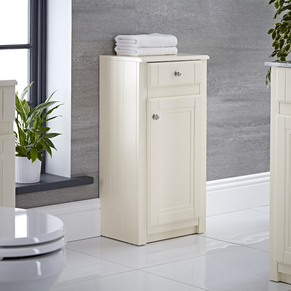 Milano Edgworth - 400mm Traditional Storage Unit - Ivory
