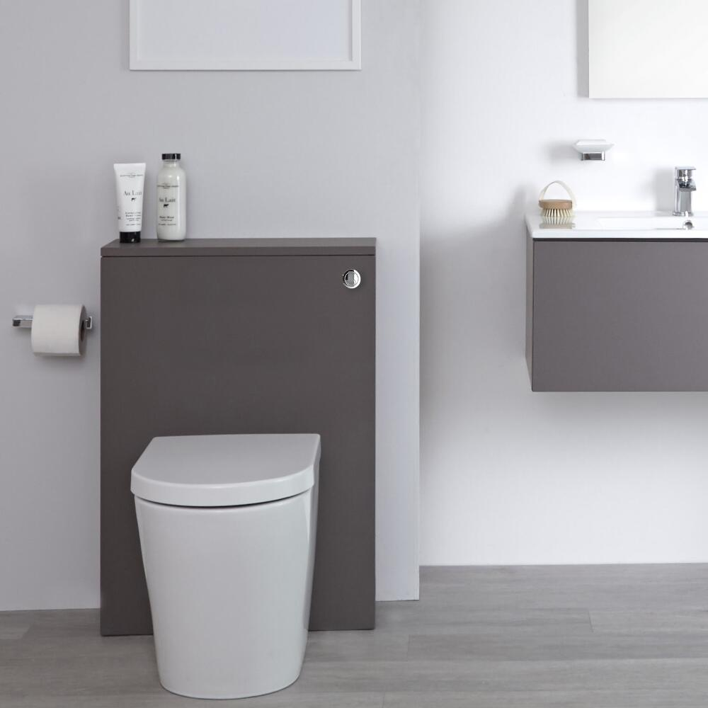 Milano Oxley - Grey Modern 600mm WC Unit