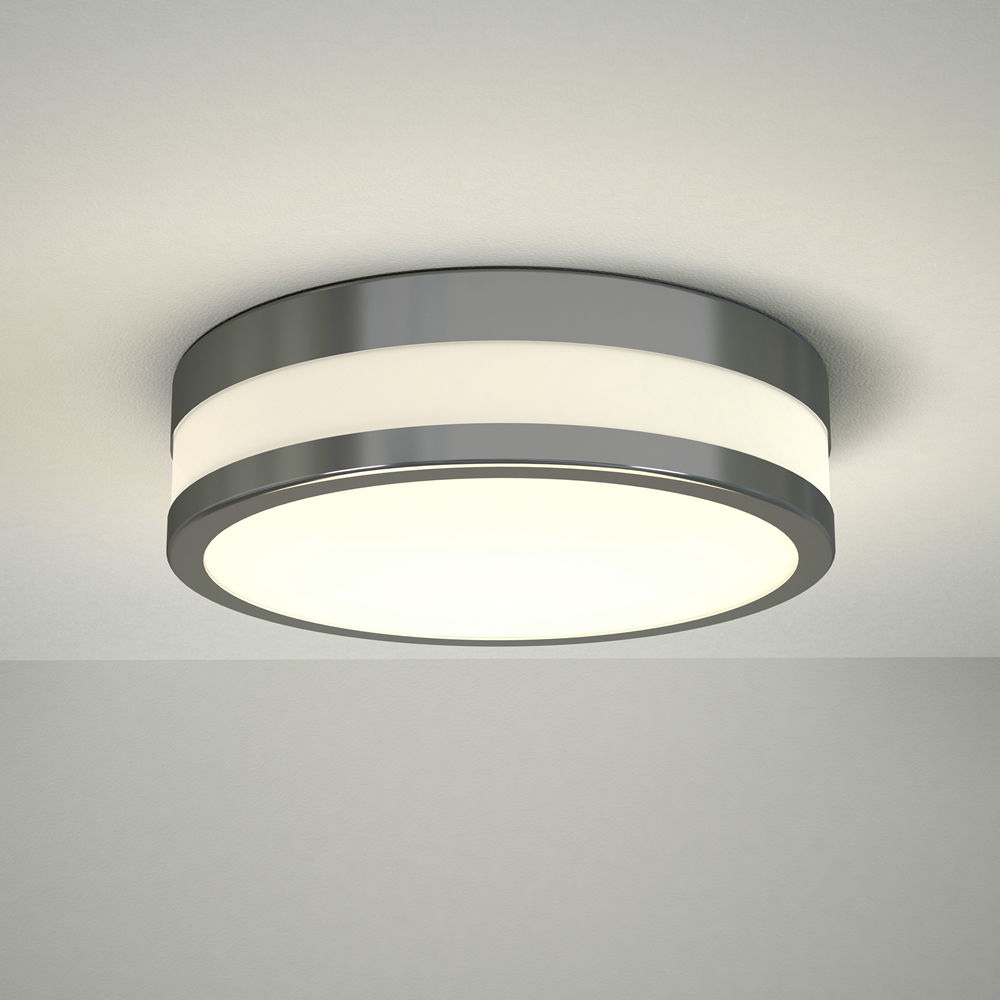 Milano Enns LED Bathroom Ceiling Light 230mm