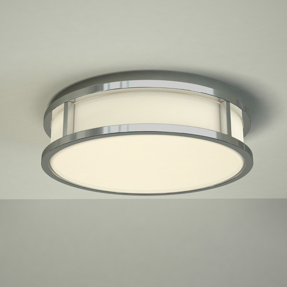 Milano Enns Round LED Bathroom Ceiling Light