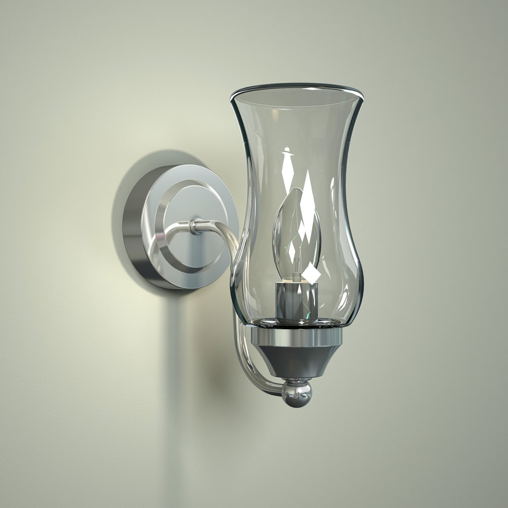 Milano Fischa Curved Top Bathroom Wall Light