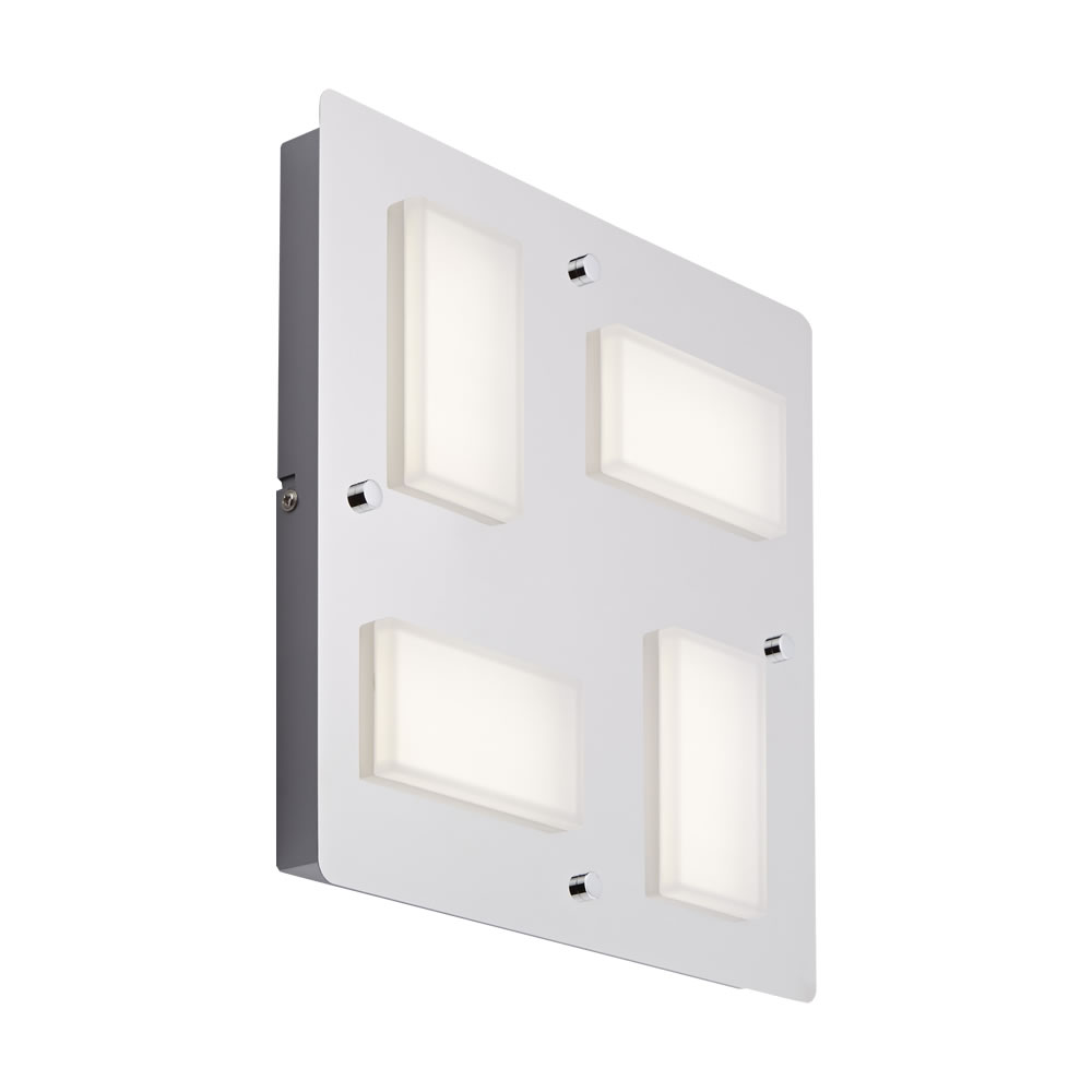 Biard Glacier Four LED Bathroom Wall/Ceiling Light