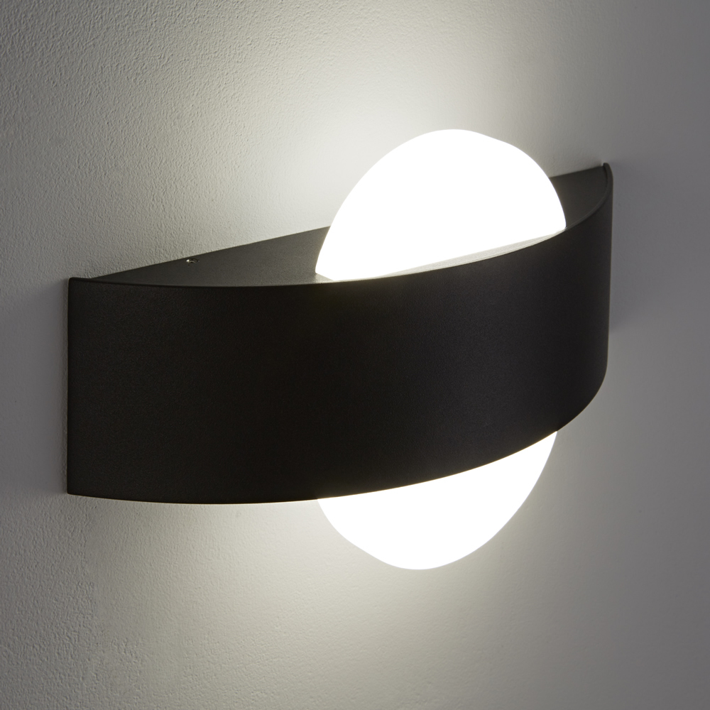 Biard Aqua Round LED Wall Light - Black