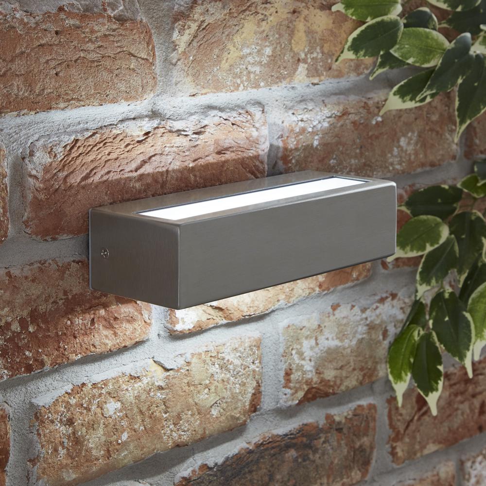 Biard Ternay IP44 LED Outdoor Wall Light - Brushed Steel