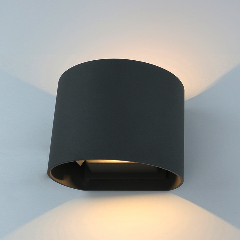 Biard Prism Adjustable IP54 LED Outdoor Wall Light - Black