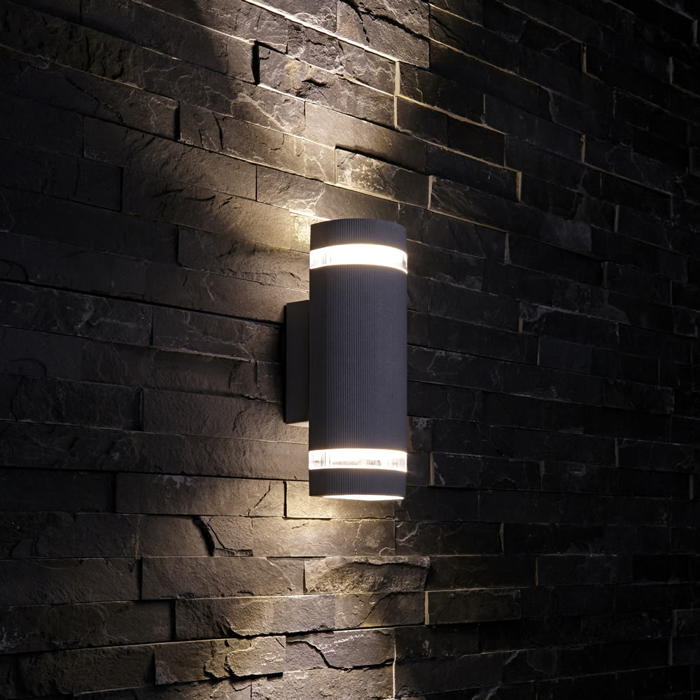 Biard Architect IP54 Round Up/Down Outdoor Wall Light