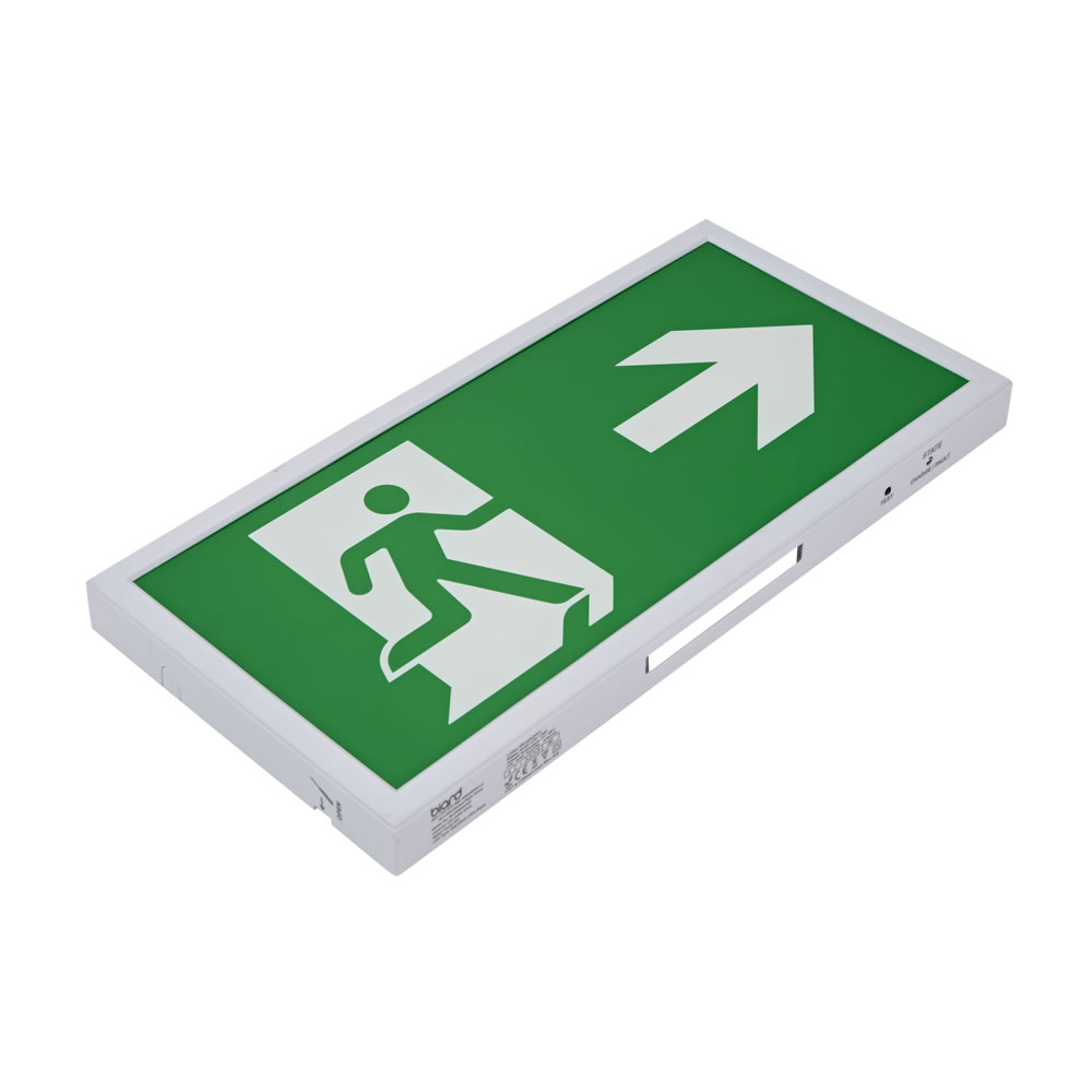 Biard LED 5W Slim Emergency Exit Sign Maintained/Non-Maintained - Down/Left/Right