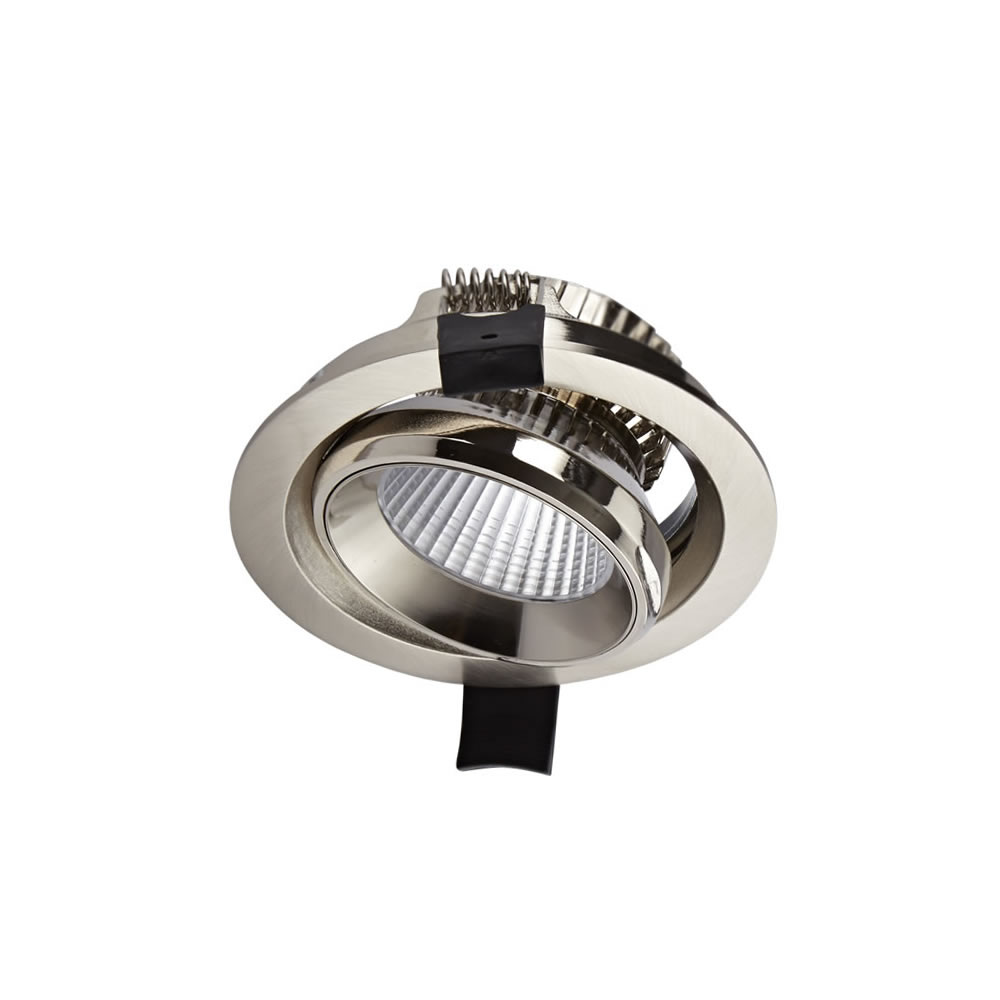 Biard LED 10W Dimmable Recessed Downlight - Brushed Nickel