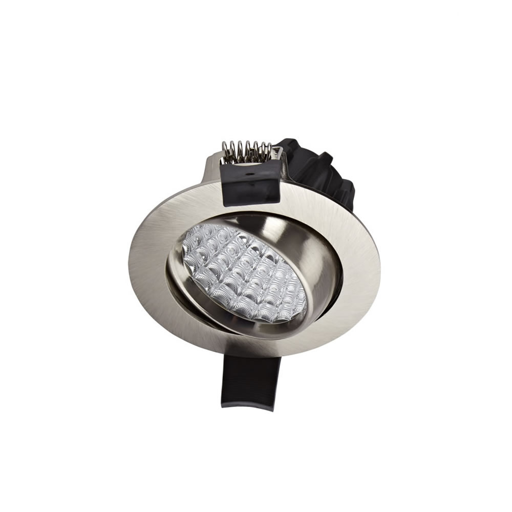 Biard LED 7W Dimmable Recessed Downlight - Brushed Nickel