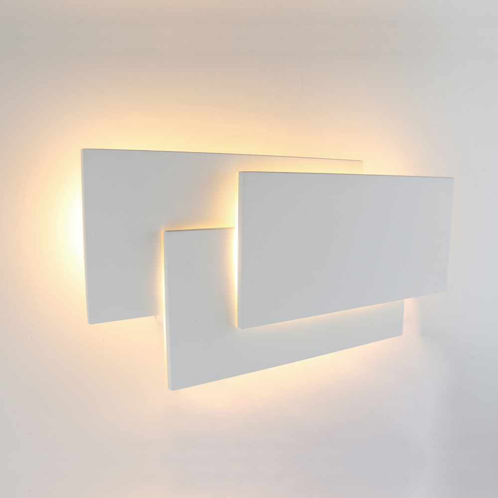 Biard Piran Square Backlit LED Indoor Wall Light - White