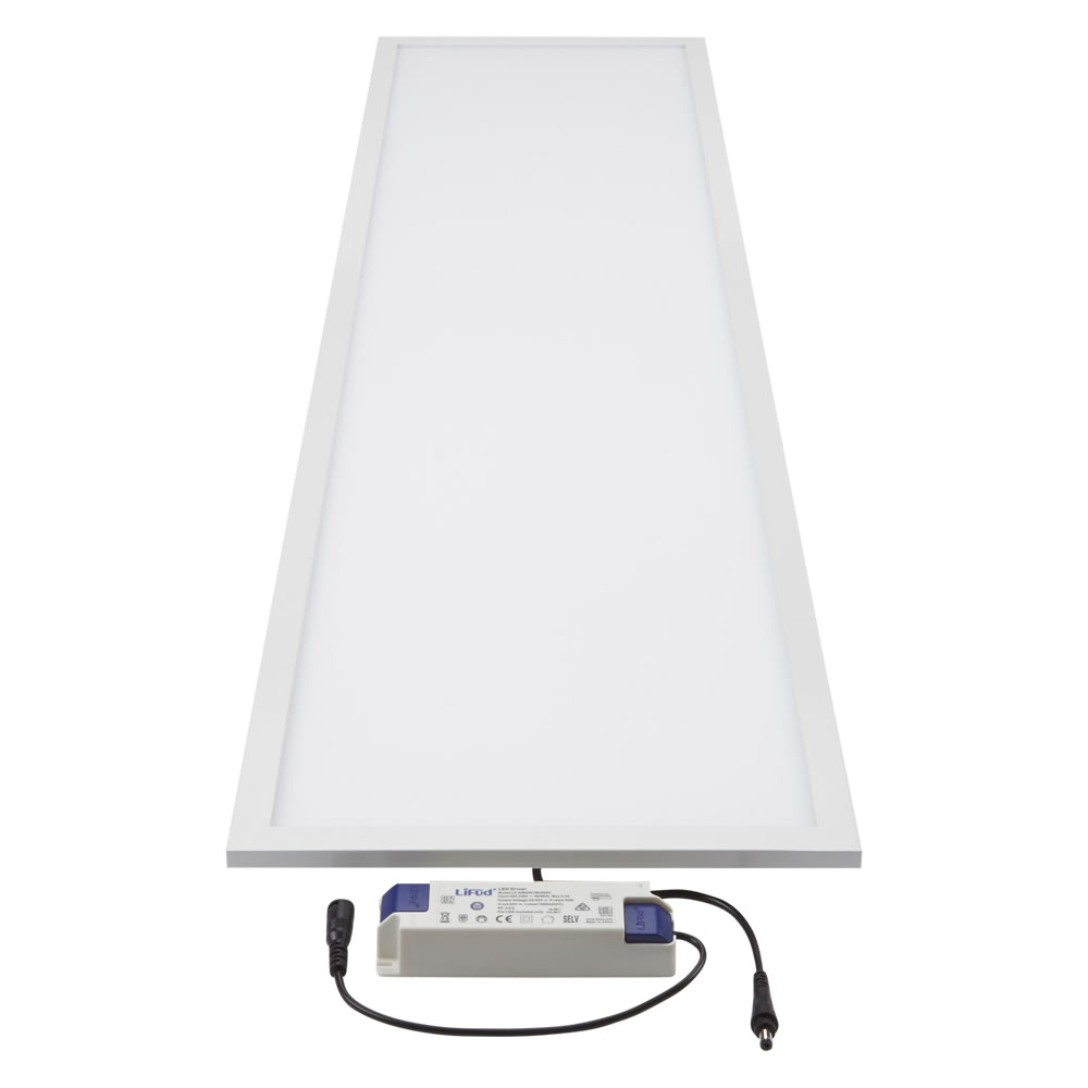 Biard LED 36W 1200mm x 300mm Panel Light - White Frame