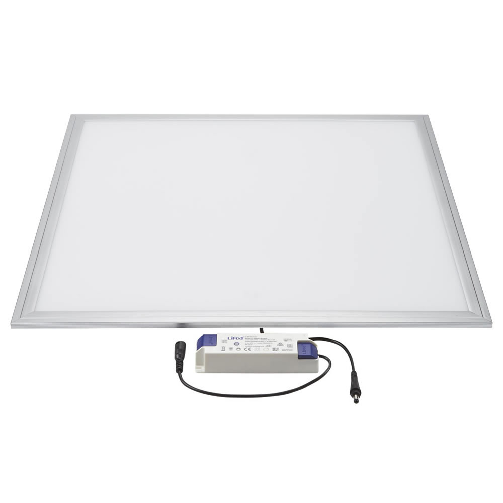 Biard LED 36W 600mm x 600mm Panel Light - Silver Frame