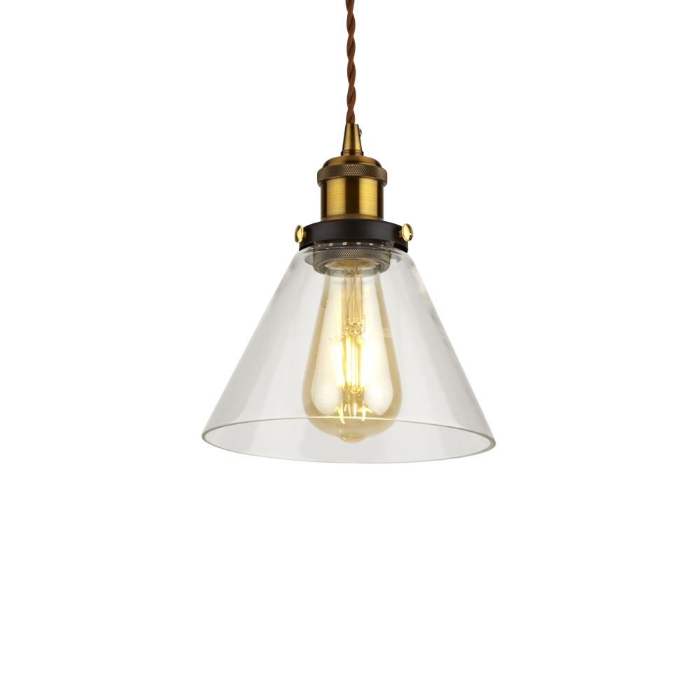 Biard Shoreditch Glass Pendant Light with Various Pendant Colours
