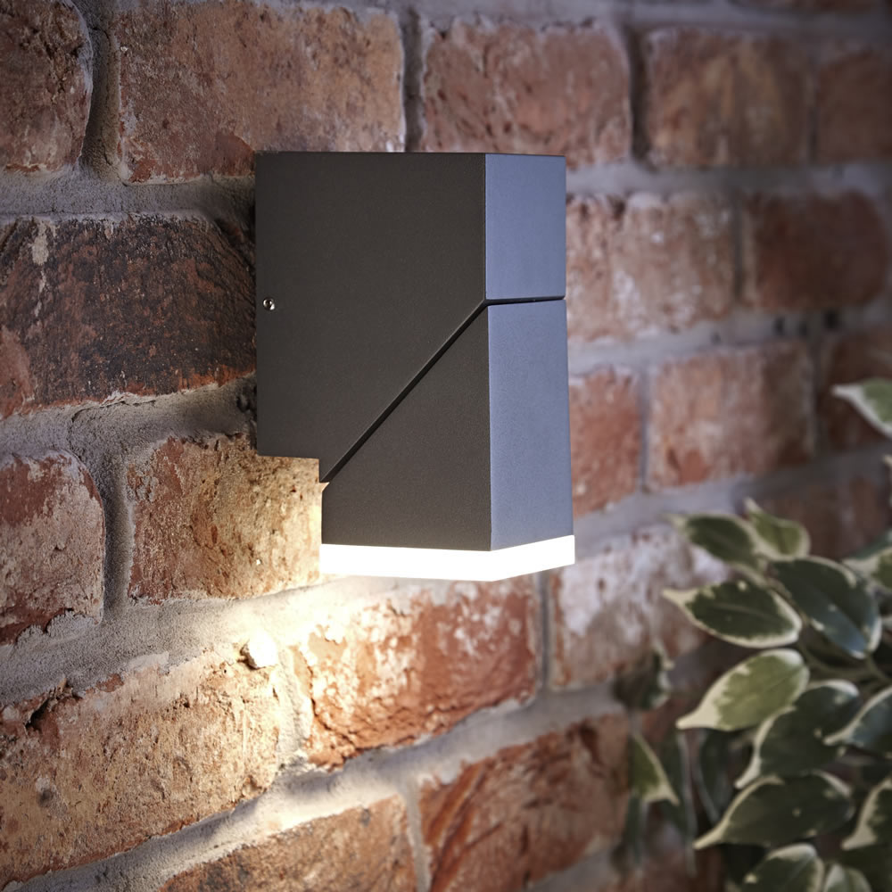 Biard Ziersdorf LED Adjustable Up or Down Light Square - Anthracite
