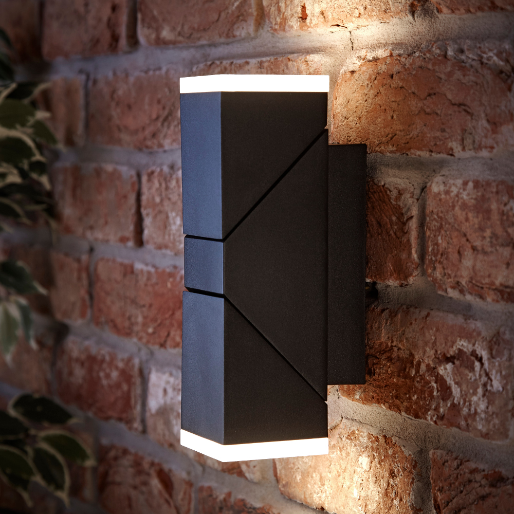 Biard Ziersdorf LED Adjustable Up/Down Light Square - Black
