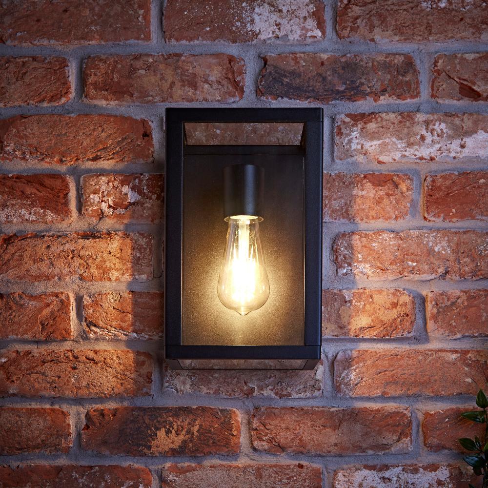 Biard Bonn IP54 Box Outdoor Wall Light - Black