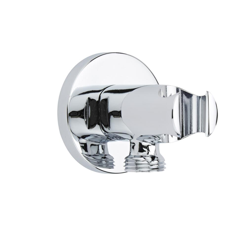 Milano Mirage - Modern Round Integrated Outlet Elbow and Bracket for Hand Showers - Chrome