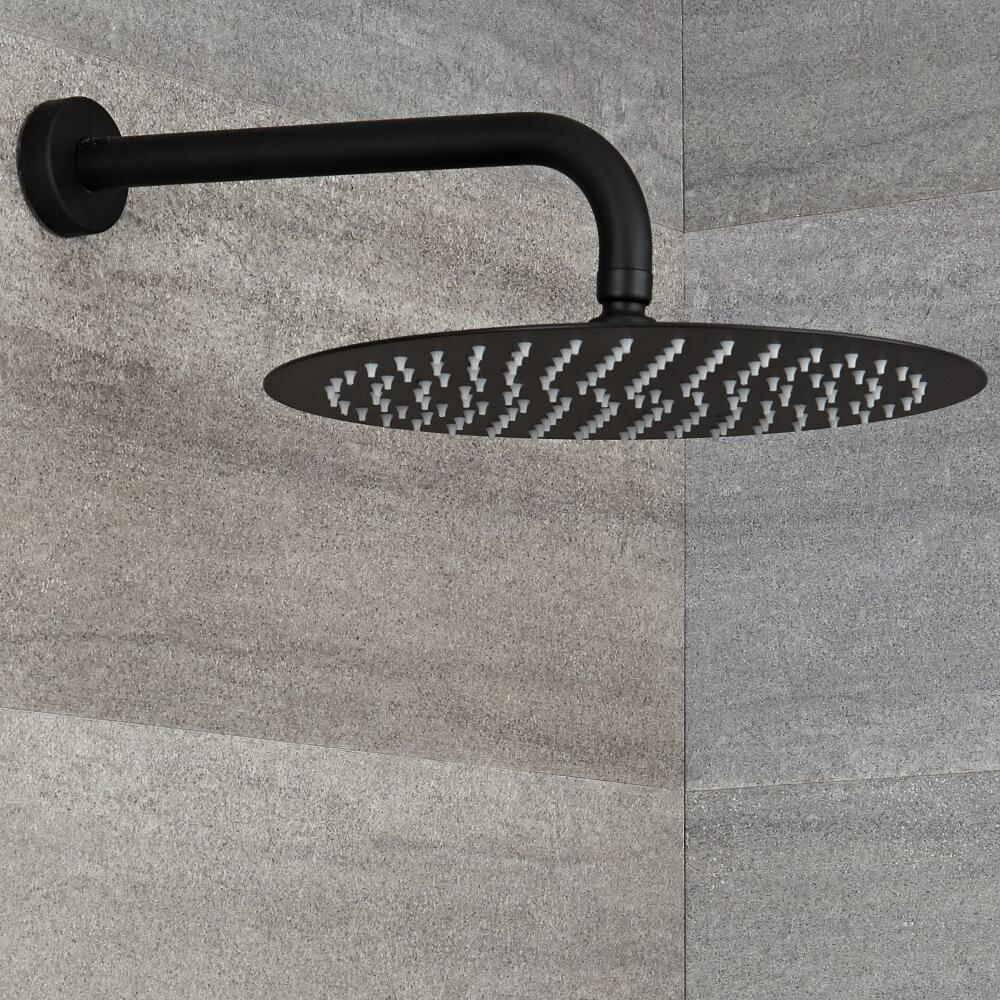 Milano Nero - Wall Mounted Shower Arm - Black