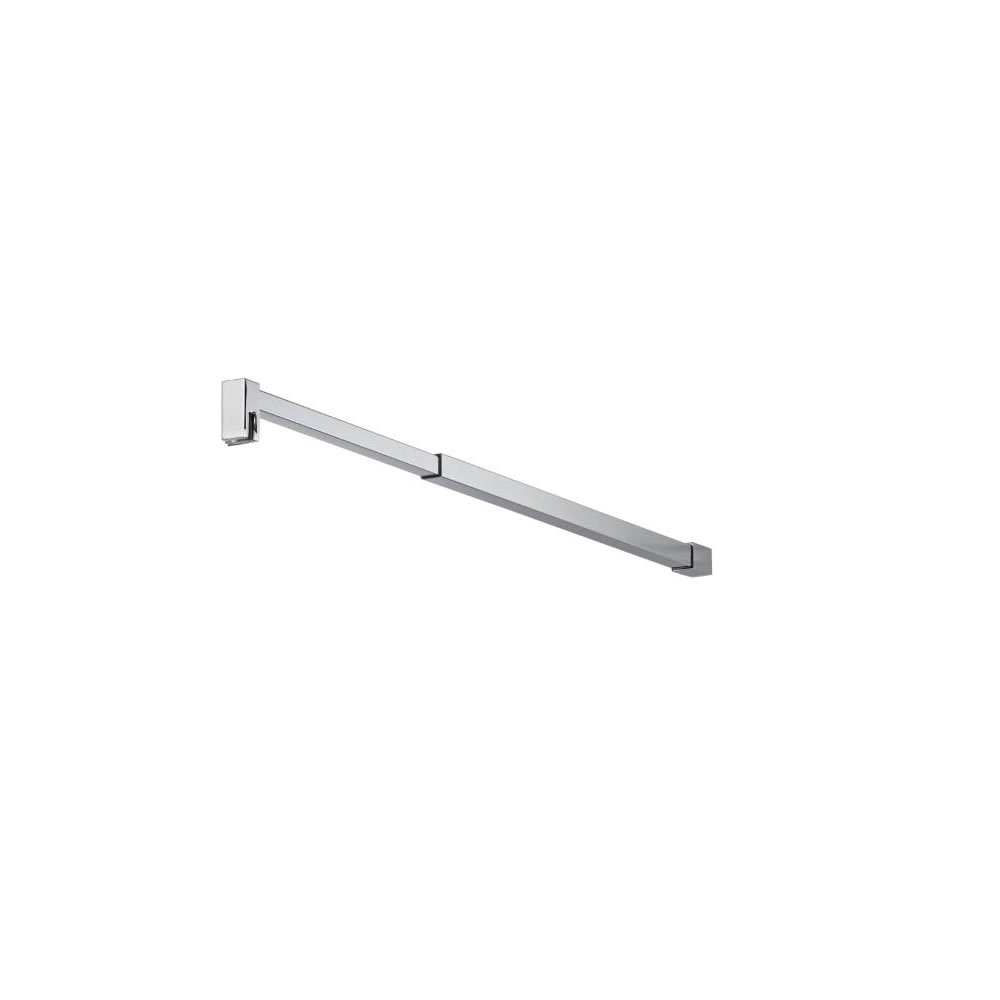 Milano Portland - Modern Square Adjustable Wet Room Screen Support Arm - Chrome