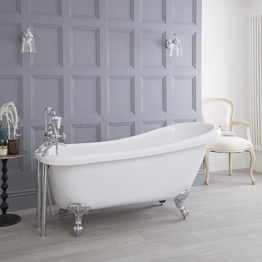 Milano - 1700mm x 730mm Freestanding Slipper Bath with Choice of Feet