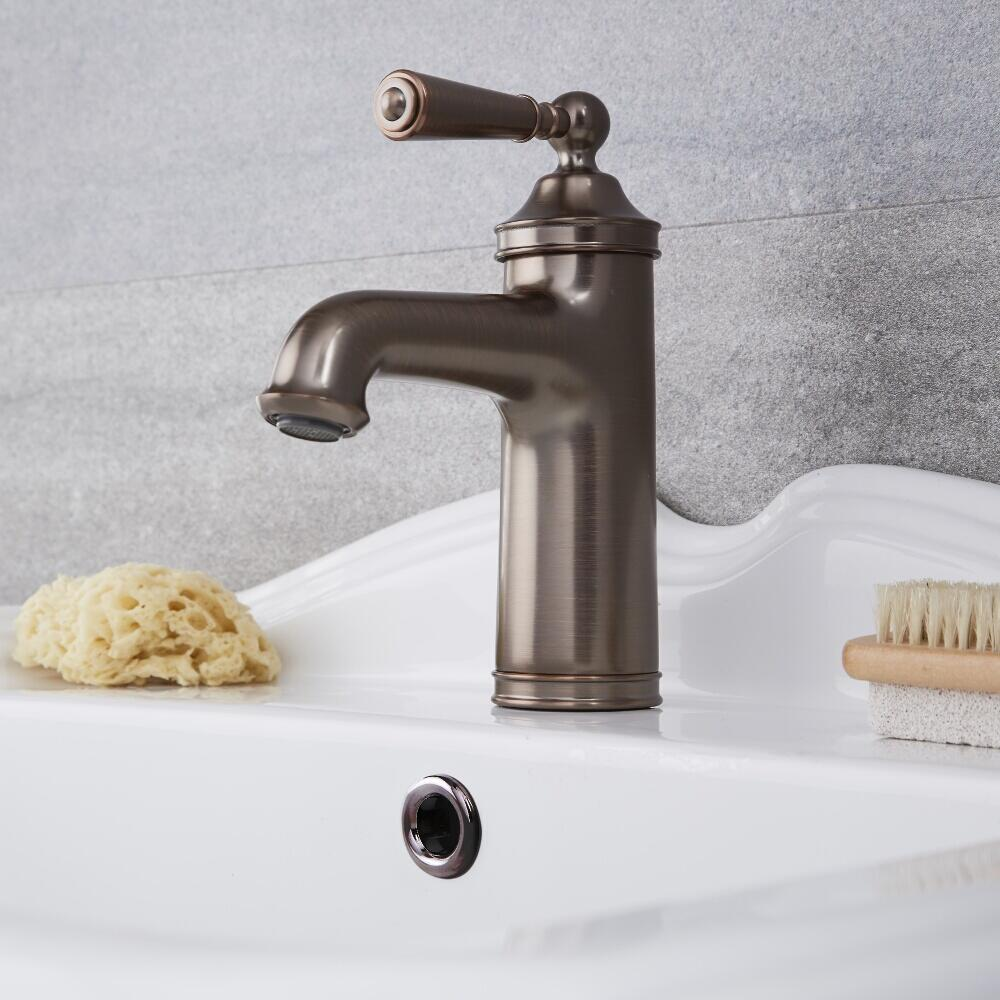 Milano Washington - Traditional Mono Basin Mixer Tap - Oil Rubbed Bronze