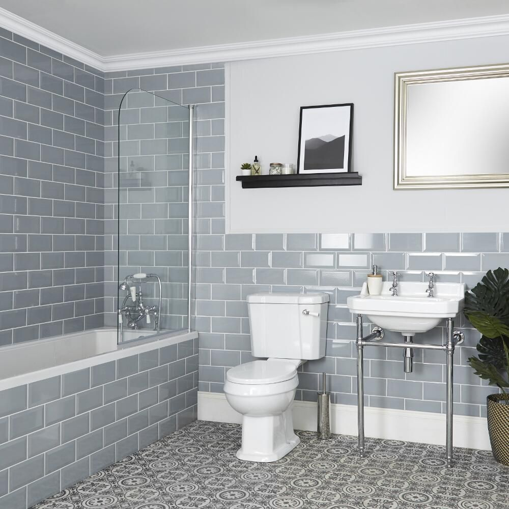 Milano Richmond Traditional Bathroom Suite With Bath Toilet And Washstand Basin
