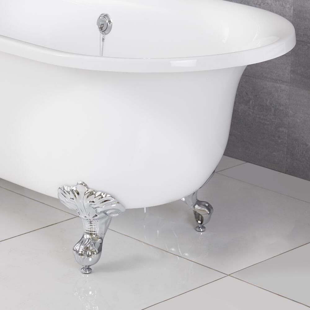 Milano Richmond White Traditional Freestanding Bath With Choice Of Feet 1730mm X 780mm No Tap Holes