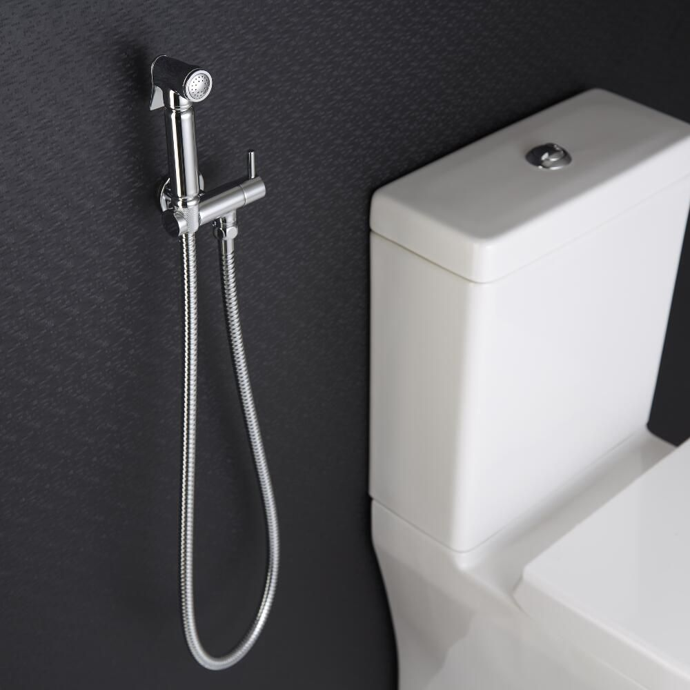 Milano Mirage Modern Wall Hung Douche Spray Chrome