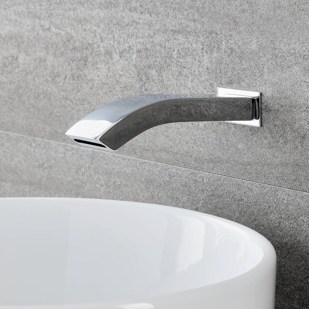 Milano Razor Wall Mounted Basin Or Bath Spout Chrome