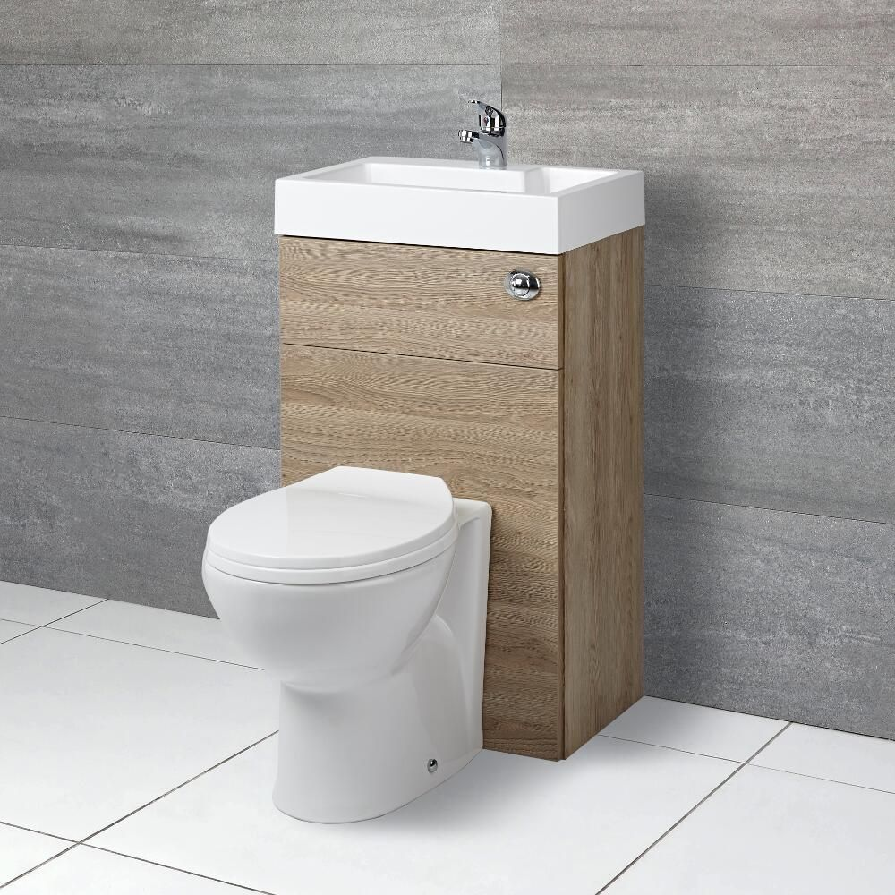 innovative design 25e3f 6b056 Milano Lurus - Oak Modern Select Toilet and Basin Unit Combination - 500mm  x 890mm