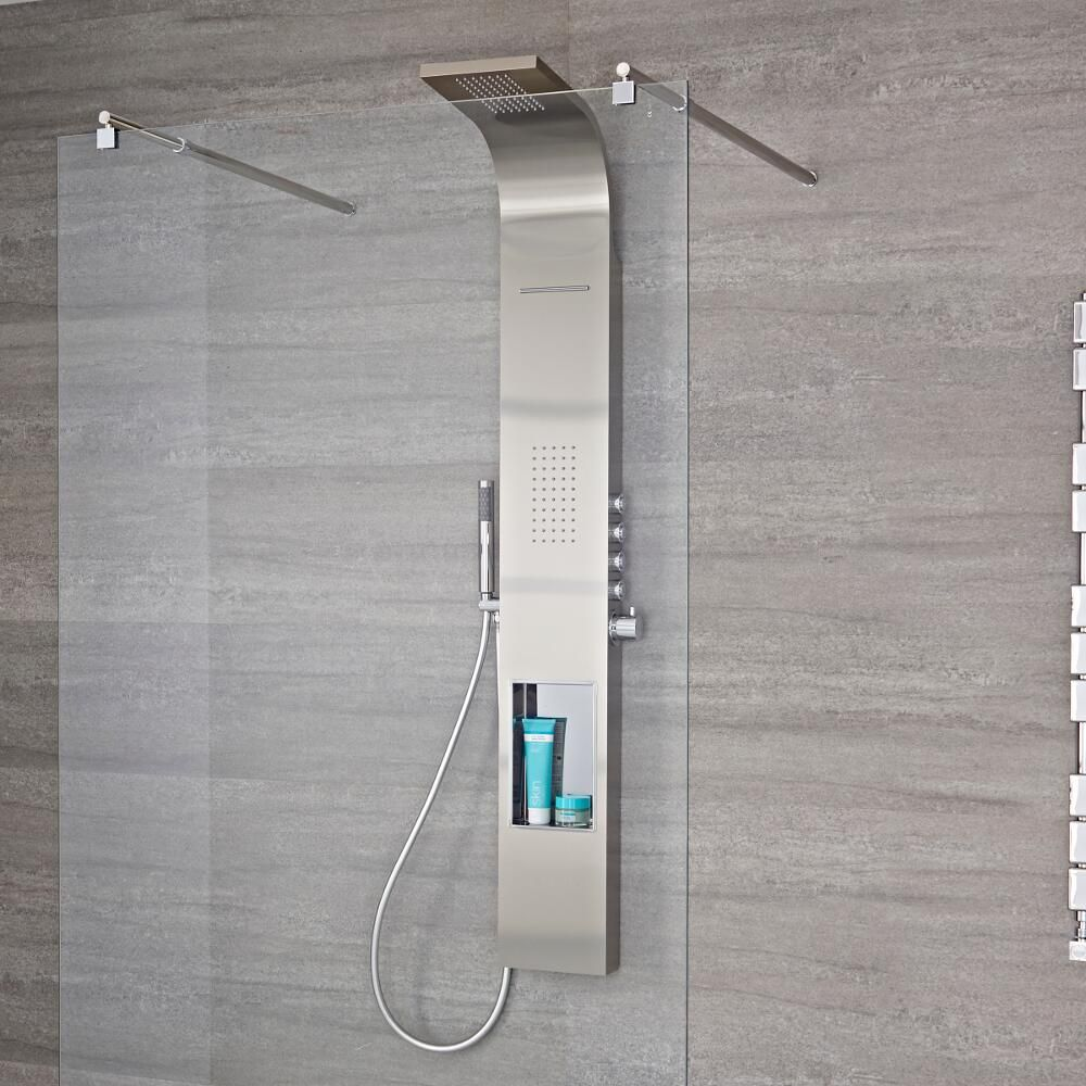 Milano Vista Modern Exposed Thermostatic Shower Tower