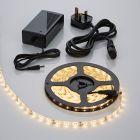 Biard 5 Metre 3528 Warm White Waterproof LED Strip Light Kit with Power Supply - 300 LEDs